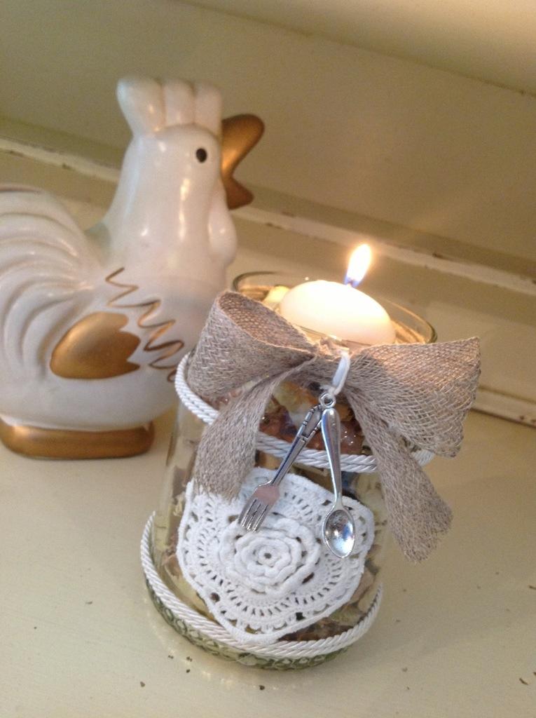Barattoli in vetro shabby maison des souvenirs - Barattoli decorati shabby ...